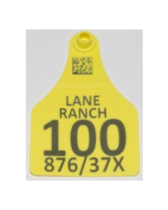 Cow Tags with Numbers + Ranch Name + Sire/Dam