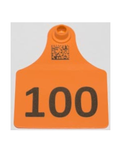 Calf Tags with Numbers Only + Space for 2 Lines of Text